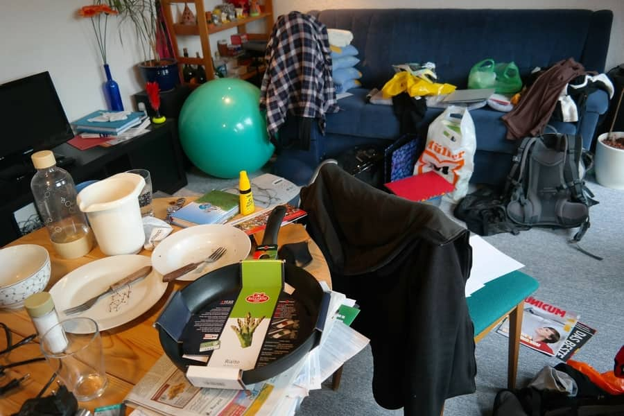 How do you pack a messy room