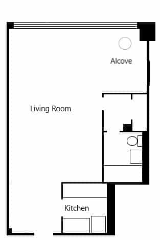 Alcove Studio Apartment Layout