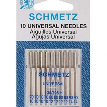 Schmetz Assorted 70/80/90 Universal Sewing Machine Needles 10pcs