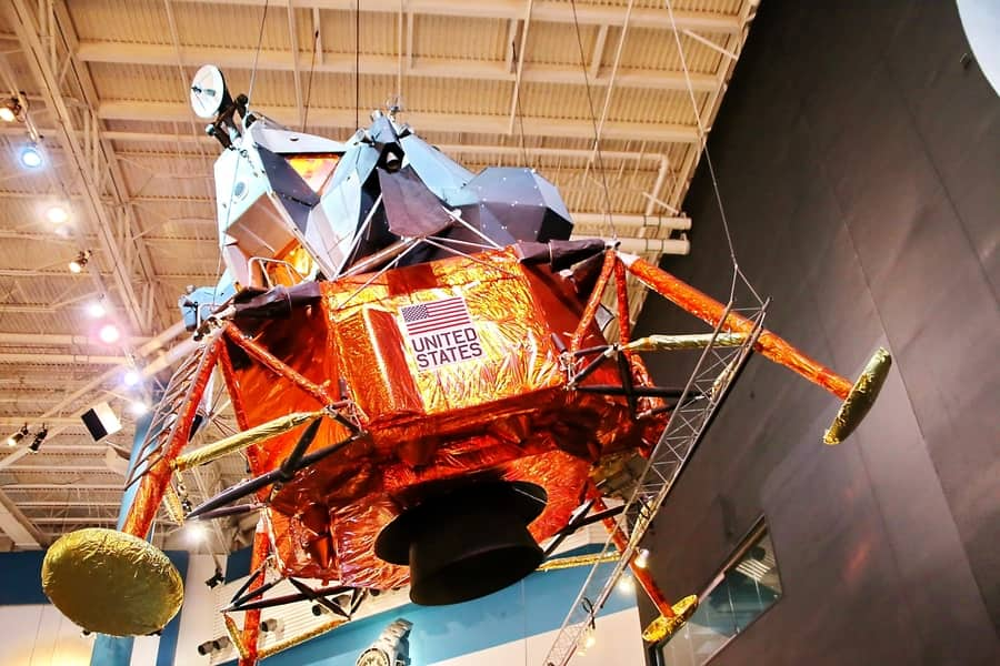 Lunar Module LTA-8: last means of transport of the longest journey in human history. - Space Center Boulevard, Houston, Texas, USA