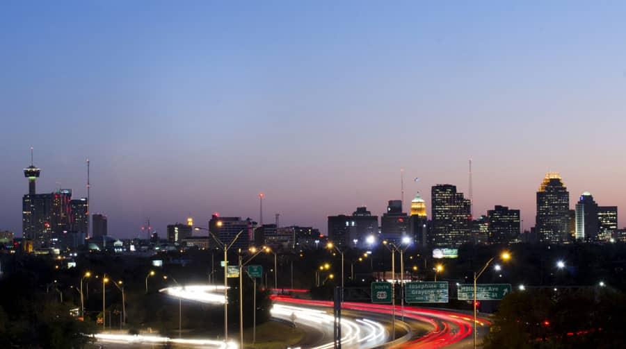 Downtown traffic of San Antonio Texas